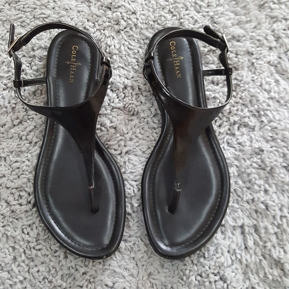 76062c98799 Cole Haan Shoes -  Cole Haan  Black Leather Air Bria Thong Sandal